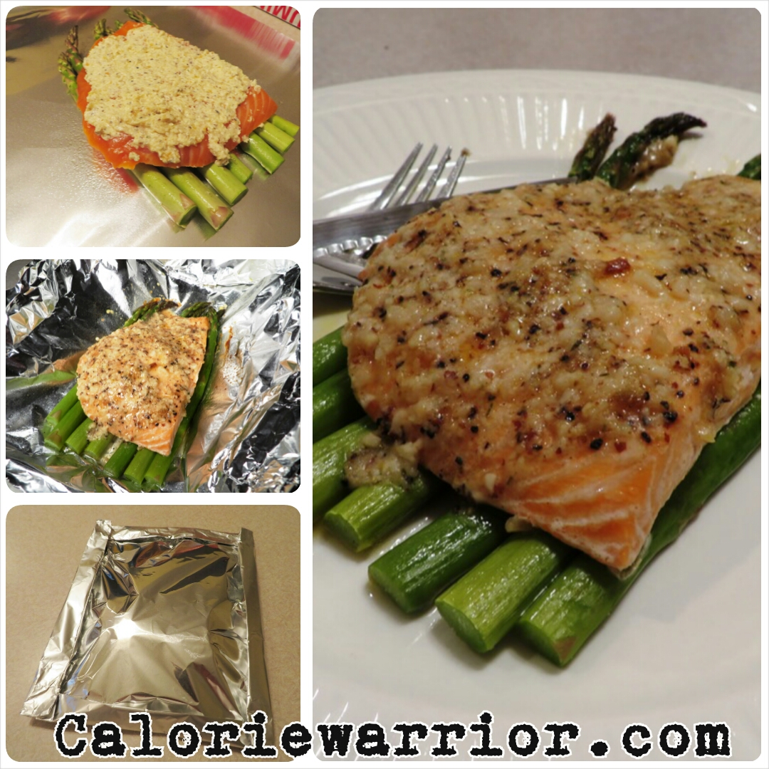 Mustardy Salmon In A Packet With Asparagus Recipes — Dishmaps