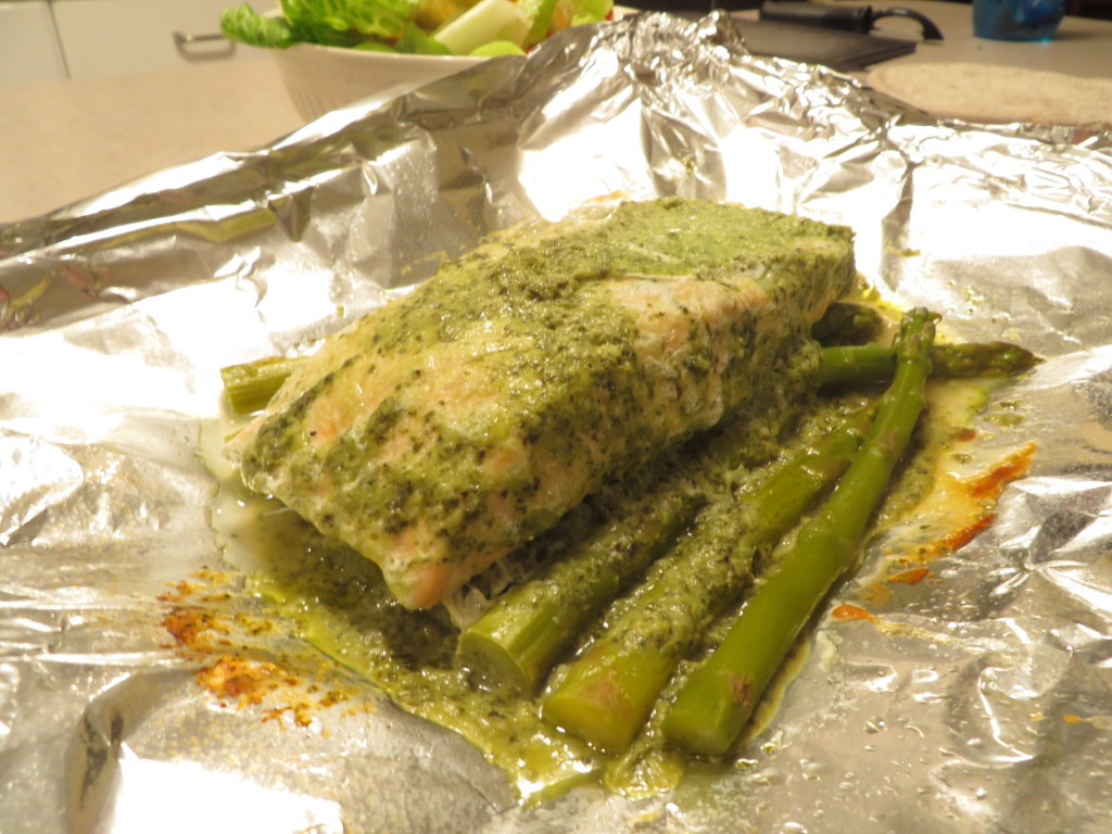 Unwrapped Pesto Salmon Foil Pack